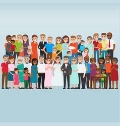 set celebrating family holidays people vector image