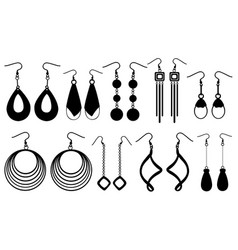 Set of different earrings vector