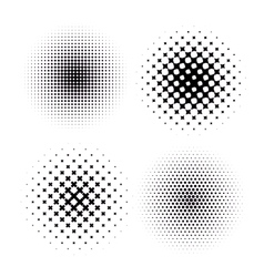 Set of four Abstract Halftone Backgrounds vector image