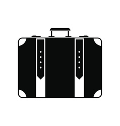 Suitcase black simple icon vector image