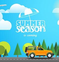 Summer season flat design vector