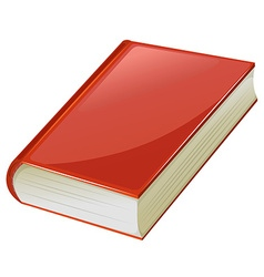 Textbook with red covers vector