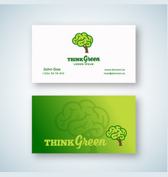 think green abstract sign or logo and vector image