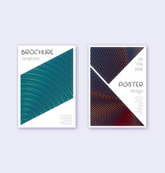 Triangle cover design template set red white blue vector