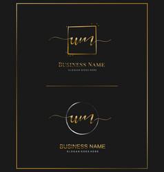 u m um initial handwriting logo letter vector image