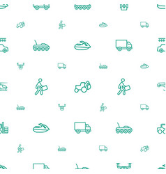 vehicle icons pattern seamless white background vector image