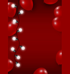 balloon and light bulb on red background vector image vector image