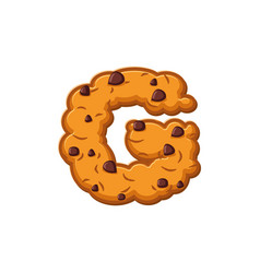g letter cookies cookie font oatmeal biscuit vector image vector image