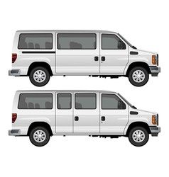 passenger van vector image vector image