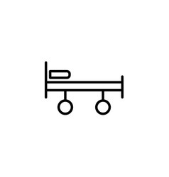 stretcher bed on wheels icon on white background vector image