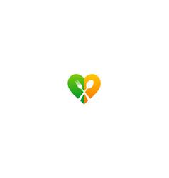 love food spoon cook logo vector image