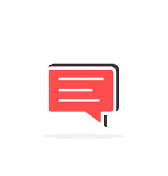 message in simple speech bubble icon vector image