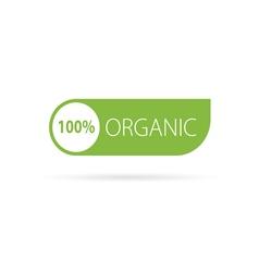 organic sign green vector image vector image