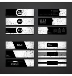 Set of modern design banner template in Molecular vector image