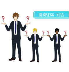 business man selection with serious face vector image vector image