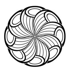 monochrome beautiful decorative ornate mandala vector image