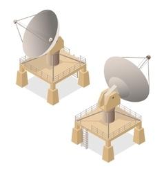 Satellite Dish Isometric View vector image
