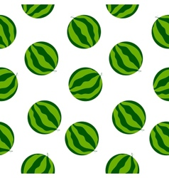 Seamless watermelon background vector image vector image