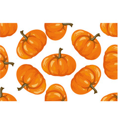 vegetable pattern pumpkin seamless background vector image vector image