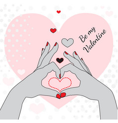 be my valentine greeting card vector image vector image