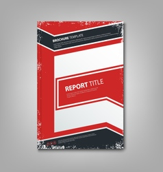 Brochure book or flyer with abstract blue red vector image
