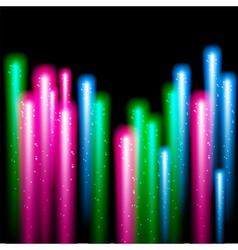 Color fireworks on black background vector image