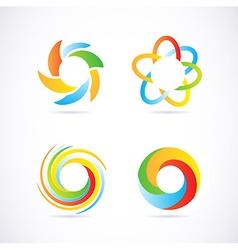 Company logo elements set vector image vector image