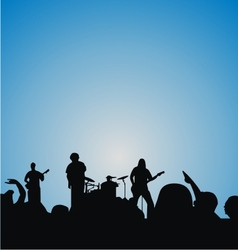 Concert Crowd Silhouette vector image