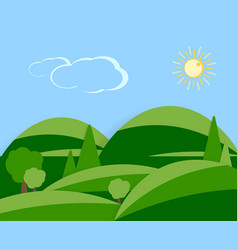 daytime flat scene vector image