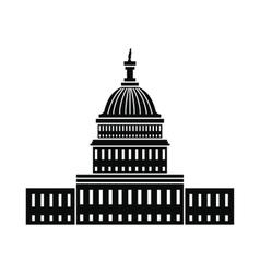 White House in Washington DC icon vector image