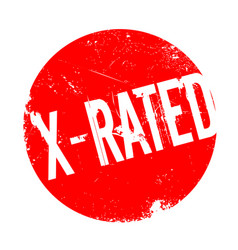 x-rated rubber stamp vector image