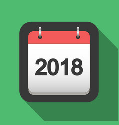 2018 calendar flat icon vector