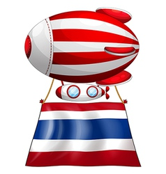 A floating balloon and the flag of Thailand vector image
