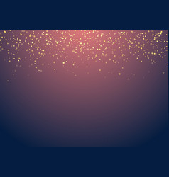 abstract falling golden glitter lights texture on vector image
