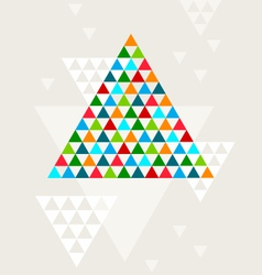 Abstract geometric Christmas tree vector