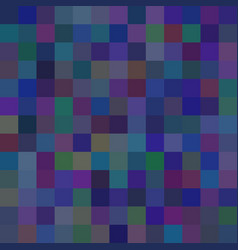 background of art colored dark blue squares mosaic vector image
