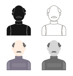 bald head icon cartoon single avatarpeaople icon vector image
