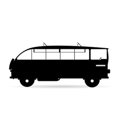 Black-and-white logo of the bus vector