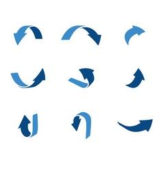 Blue Arrows 3d vector