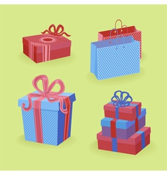 Bright gifts vector image