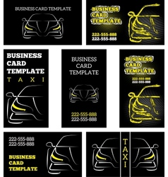 business card template taxi vector image