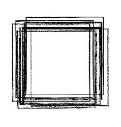 chalked frame banner vector image