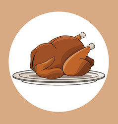 chicken roasted food image vector image