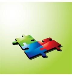 color puzzle vector image