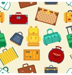 Colorful luggage seamless pattern background esp10 vector image