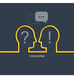 Concept of Consulting vector image