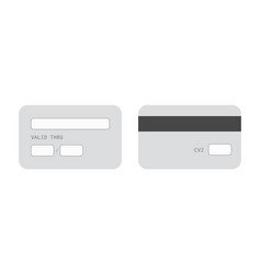 Credit card template banner monochrome bank vector