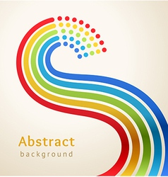 Curved colored stripes with circles vector image
