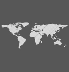 diagonal lines world map vector image