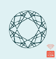Diamond icon brilliant line design symbol vector